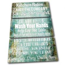 Kitchen House Rules Typography - 13-2363(00B)-TR32-PO